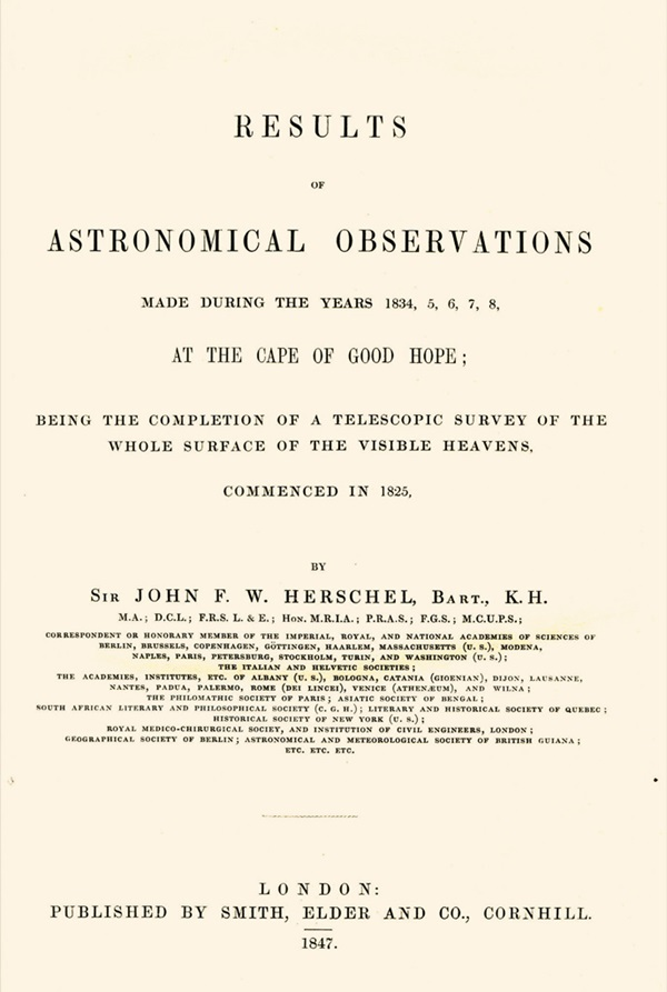 Herschel, Results of Astronomical Obstervations
