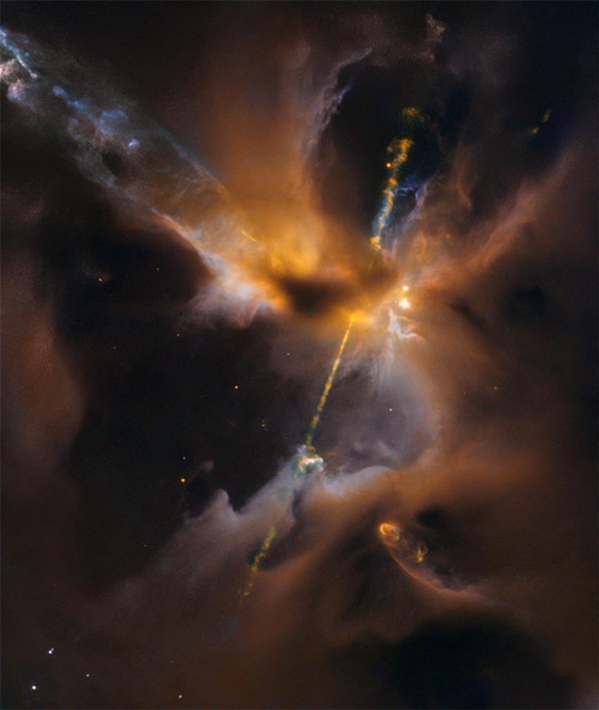 Oggetto di Herbig Haro HH24. Crediti Hubble Space Telescope
