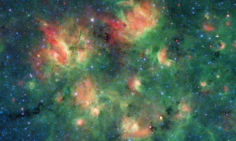 Regione di formazione stellare. Crediti Spitzer