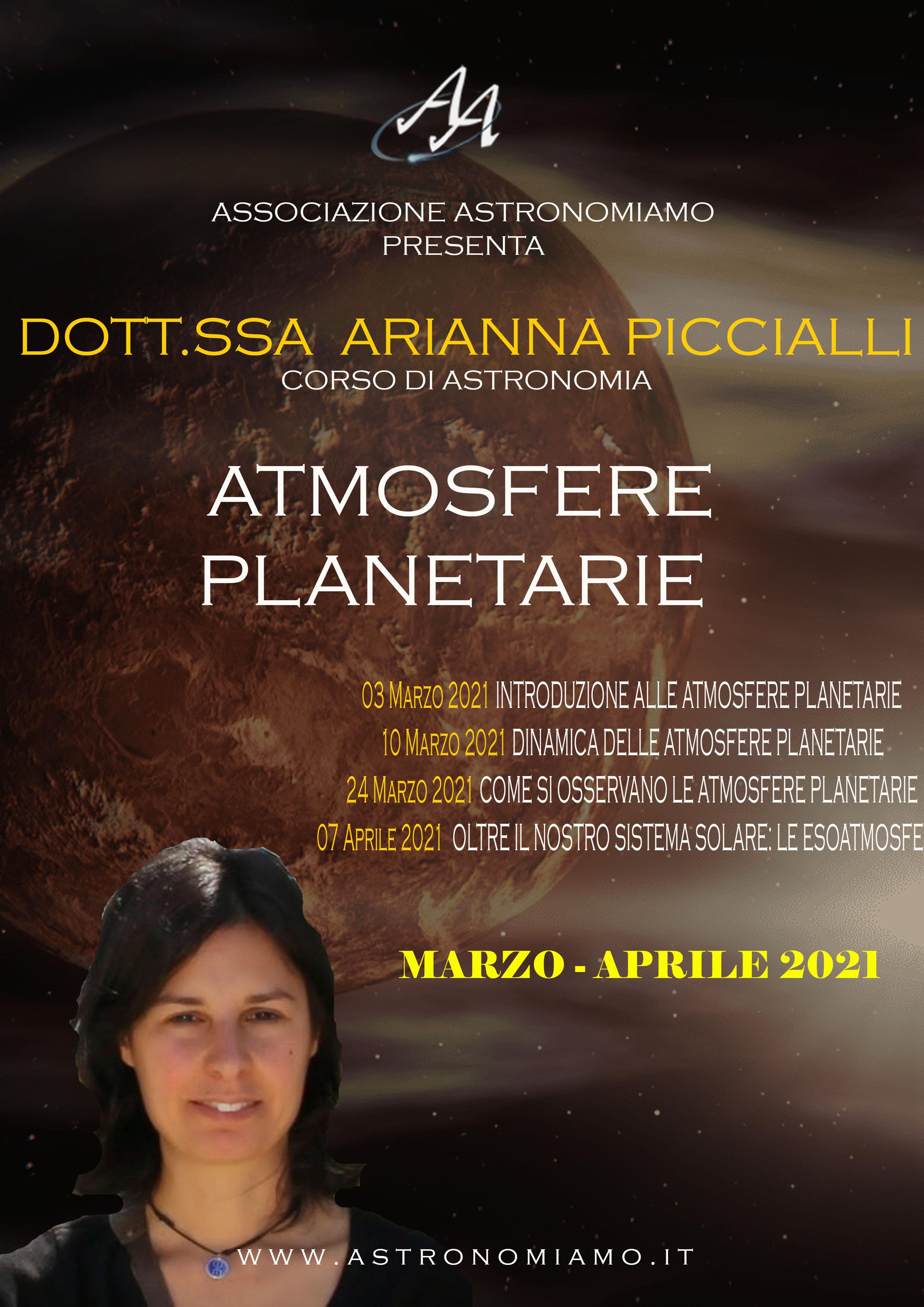 Corso su atmosfere planetarie
